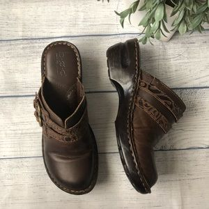 B.O.C. Brown Comfort Mules/Clogs